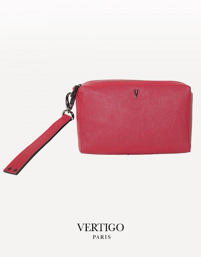 pochette maquillage grand Badu rouge