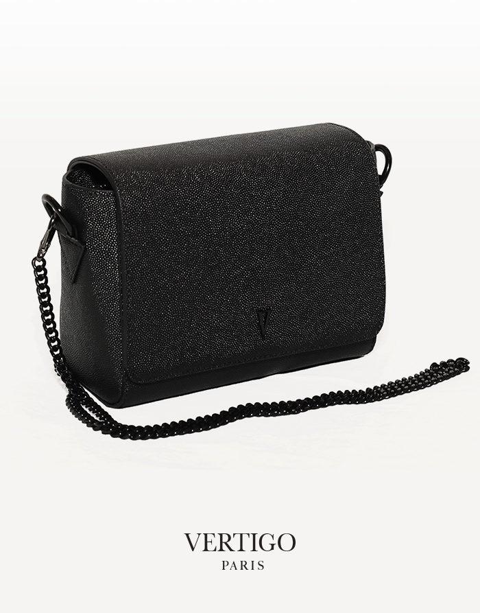 sac ischia cuir noir